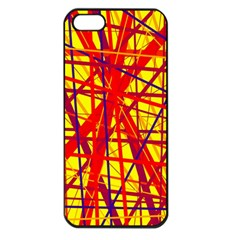 Yellow and orange pattern Apple iPhone 5 Seamless Case (Black)