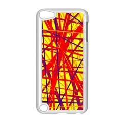 Yellow and orange pattern Apple iPod Touch 5 Case (White)