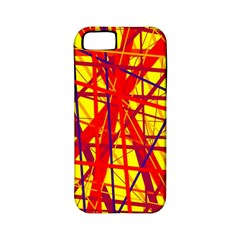 Yellow and orange pattern Apple iPhone 5 Classic Hardshell Case (PC+Silicone)