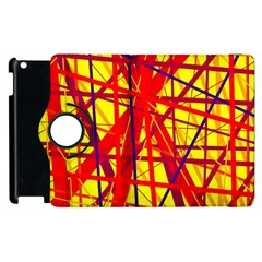 Yellow and orange pattern Apple iPad 2 Flip 360 Case