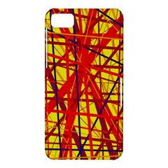 Yellow and orange pattern BlackBerry Z10