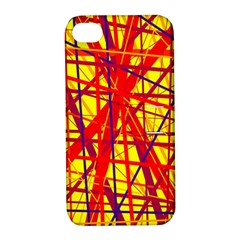 Yellow and orange pattern Apple iPhone 4/4S Hardshell Case with Stand