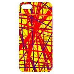 Yellow and orange pattern Apple iPhone 5 Hardshell Case with Stand