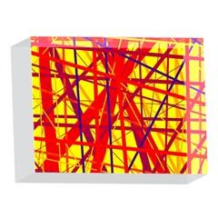 Yellow and orange pattern 5 x 7  Acrylic Photo Blocks