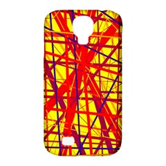 Yellow and orange pattern Samsung Galaxy S4 Classic Hardshell Case (PC+Silicone)