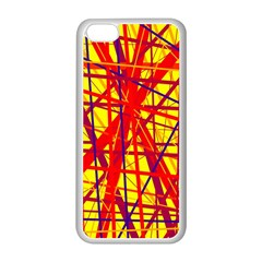 Yellow and orange pattern Apple iPhone 5C Seamless Case (White)