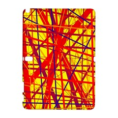 Yellow and orange pattern Samsung Galaxy Note 10.1 (P600) Hardshell Case