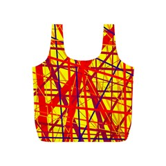 Yellow and orange pattern Full Print Recycle Bags (S)