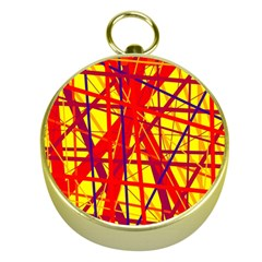 Yellow and orange pattern Gold Compasses