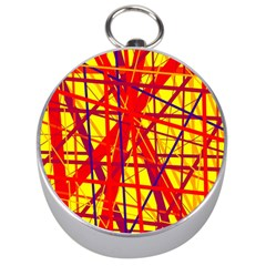 Yellow and orange pattern Silver Compasses