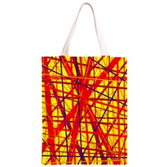 Yellow and orange pattern Classic Light Tote Bag