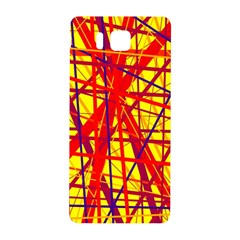 Yellow and orange pattern Samsung Galaxy Alpha Hardshell Back Case