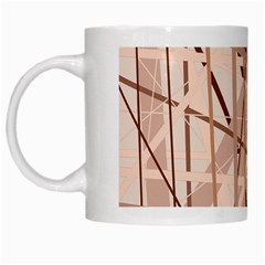 Brown pattern White Mugs
