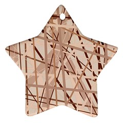 Brown pattern Star Ornament (Two Sides)
