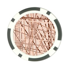 Brown pattern Poker Chip Card Guards