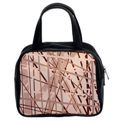 Brown pattern Classic Handbags (2 Sides)