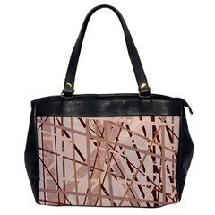 Brown pattern Office Handbags