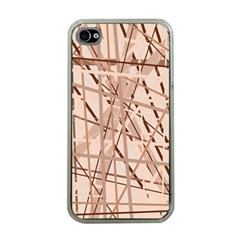 Brown pattern Apple iPhone 4 Case (Clear)