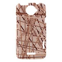 Brown pattern HTC One X Hardshell Case