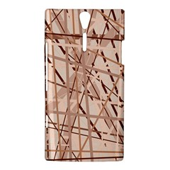 Brown pattern Sony Xperia S