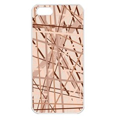 Brown pattern Apple iPhone 5 Seamless Case (White)
