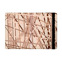Brown pattern Apple iPad Mini Flip Case