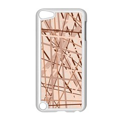 Brown pattern Apple iPod Touch 5 Case (White)