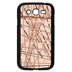 Brown pattern Samsung Galaxy Grand DUOS I9082 Case (Black)