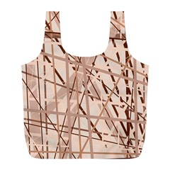 Brown pattern Full Print Recycle Bags (L)