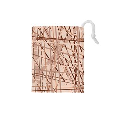 Brown pattern Drawstring Pouches (Small)