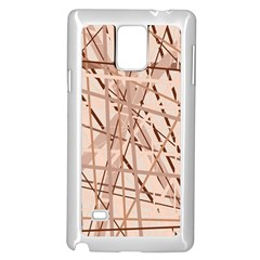 Brown pattern Samsung Galaxy Note 4 Case (White)