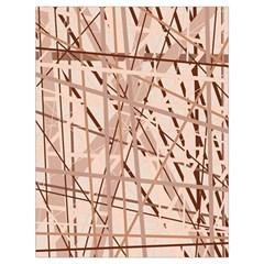 Brown pattern Drawstring Bag (Large)
