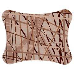 Brown Pattern Jigsaw Puzzle Photo Stand (bow)