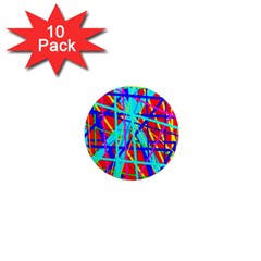 Colorful pattern 1  Mini Magnet (10 pack)