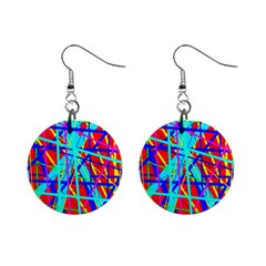 Colorful pattern Mini Button Earrings