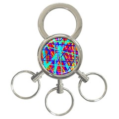 Colorful pattern 3-Ring Key Chains