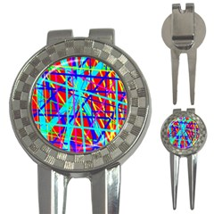 Colorful pattern 3-in-1 Golf Divots