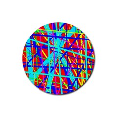 Colorful pattern Rubber Round Coaster (4 pack)