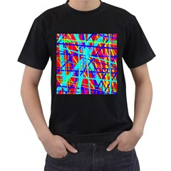 Colorful pattern Men s T-Shirt (Black) (Two Sided)