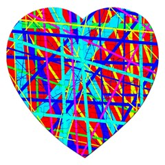 Colorful pattern Jigsaw Puzzle (Heart)