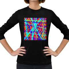 Colorful pattern Women s Long Sleeve Dark T-Shirts