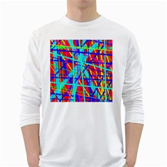 Colorful pattern White Long Sleeve T-Shirts