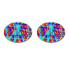 Colorful pattern Cufflinks (Oval)