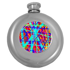 Colorful pattern Round Hip Flask (5 oz)
