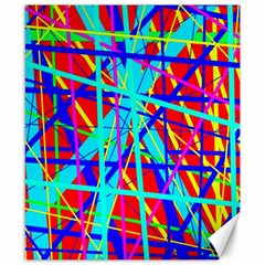Colorful pattern Canvas 8  x 10