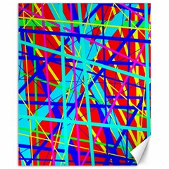 Colorful pattern Canvas 11  x 14