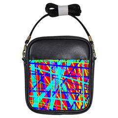 Colorful pattern Girls Sling Bags