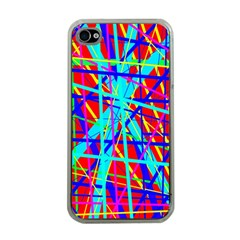 Colorful pattern Apple iPhone 4 Case (Clear)