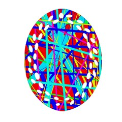 Colorful pattern Ornament (Oval Filigree)