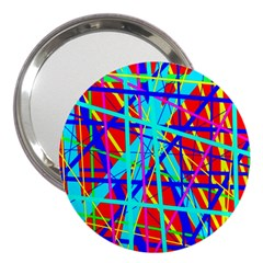 Colorful pattern 3  Handbag Mirrors